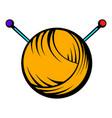 knitting thread and needles icon icon cartoon vector image