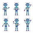 cartoon mascot robot robot character robot in vector image
