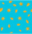 autumn leaves yellow orange leaf set oak maple vector image