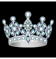 women silver crown vector image vector image