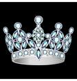 women silver crown vector image