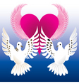 love doves vector image vector image