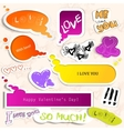 colorful paper bubble for speech valentines day vector image vector image