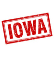 Iowa red square grunge stamp on white vector image