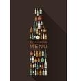 Alcoholic beverages menu vector image