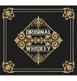 Art-deco Whiskey label vector image
