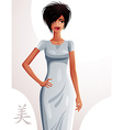 Attractive woman holding her hand on a waist full vector image