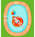 Boy at the Pool vector image