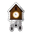 brown cuckoo clock icon image vector image
