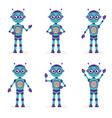 cartoon mascot robot robot character robot in vector image