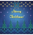 Christmas Sweater Card vector image