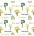 forest tree seamless pattern light colors vector image