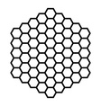 Hexagon pattern field black outline vector image