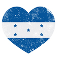 Honduras retro heart shaped flag vector image
