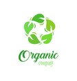 organic logo template farmer products company vector image