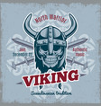 vintage viking poster vector image