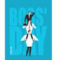 Boss Day Head sits on subordinates Festival on 16 vector image