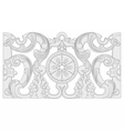 Vintage baroque geometry floral ornament vector image