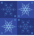 Seamless snowflakes winter background vector image vector image