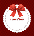 Valentines Red Card vector image
