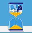 time is money concept in flat vector image