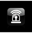 siren icon vector image vector image