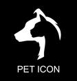pet icon black vector image vector image
