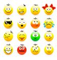 set of smile icons vector image vector image