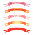 banners for Day of Valentine vector image vector image