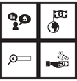 Concept flat icons black and white economy vector image