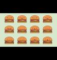 Burger emoji vector image