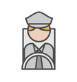 bus man avatar icon on white background vector image
