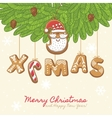 Christmas as gingerbread cookies vector image