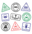 remote aircraft stamps collection vector image