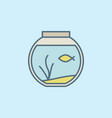 round home aquarium icon vector image