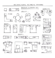 Set Of Interior Elements vector image