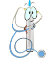 Stethoscope and thermometer vector image