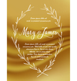 Wedding Invitation with Hand drawn laurel wreaths vector image