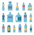Water bottles vector image