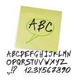 marker alphabet uppercase vector image