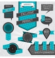 Set of premium quality labels and stickers vector image vector image