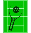 tennis racket icon vector image vector image