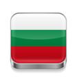Metal icon of Bulgaria vector image vector image