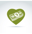 Love money success greed crediting and depositing vector image vector image