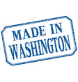 Washington - made in blue vintage isolated label vector image