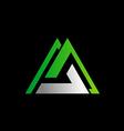 business triangle shape logo vector image
