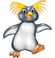 Cartoon funny penguin rockhopper vector image