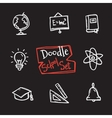 doodle style school set Cute hand drawn vector image