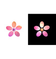 Flowers in mosaic style vector image