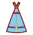 line color camp tribal and ethnic with ornamental vector image